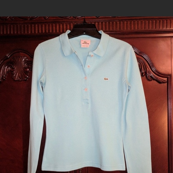 Lacoste Tops - Lacoste long sleeve polo shirt - size 36